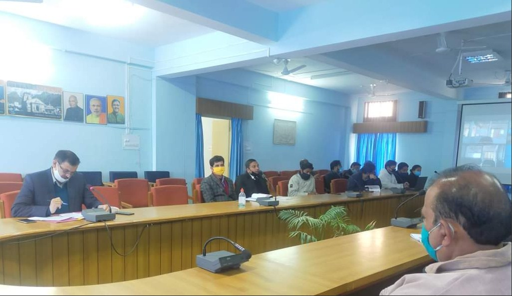 Apart from EO Municipality Tehri, other officials were also present