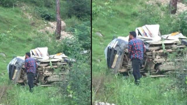 उत्तराखंड : कार खाई में गिरी चम्पावत में , दो लोगों की मौत, दो घायल