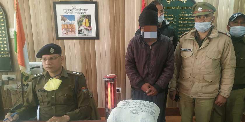 उत्तरकाशी पुलिस की चरस तस्कर के खिलाफ बडी कार्यवाही, 2.800 किग्रा0 अवैध चरस के साथ 01 अभियुक्त गिरफ्तार