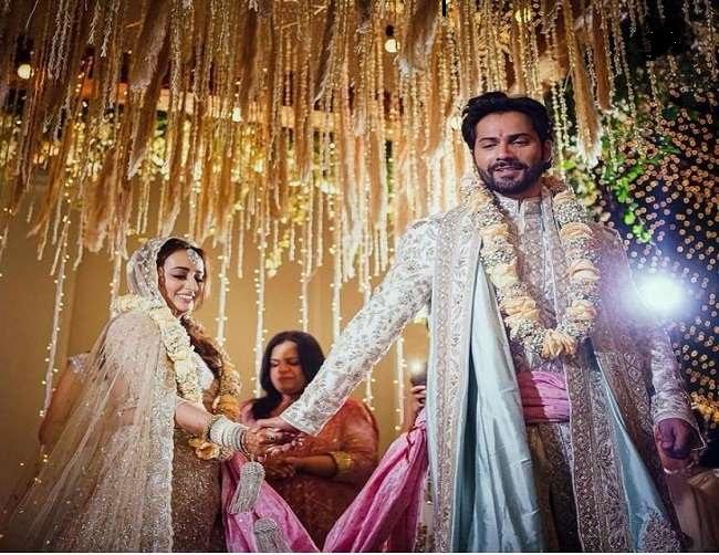 तस्वीरें हुई वायरल, देखें वरुण धवन और नताशा दलाल की शादी की पहली झलक