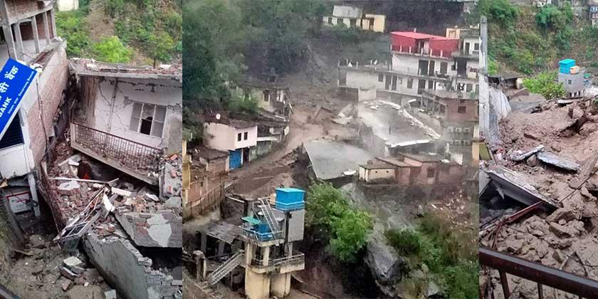 ब्रेकिंग न्यूज़ : टिहरी देवप्रयाग के अंतर्गत दशरथ डांडा पर्वत नामक स्थान पर बादल फटने से भारी नुकसान पर जनहानि की कोई सूचना नहीं