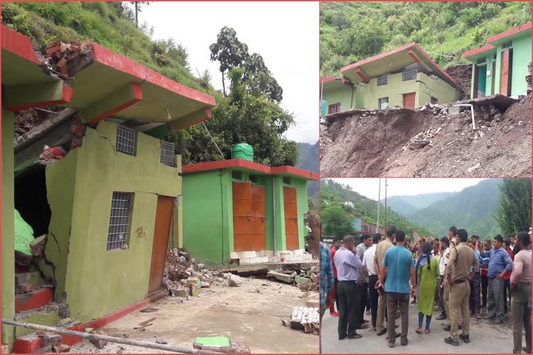उत्तराखंड : कंपनी की लापरवाही से स्यासूं गांव में गिरा मकान, लोगों में आक्रोश