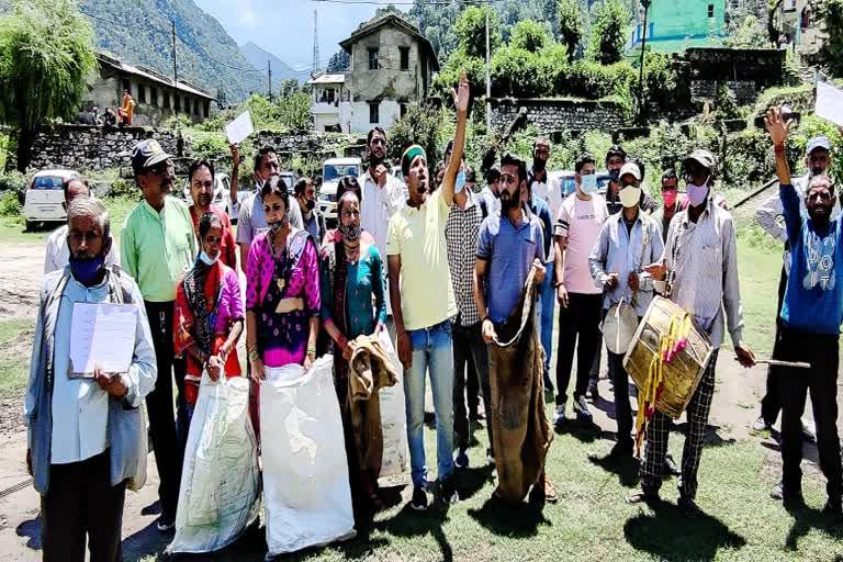उत्तराखंड : मुआवजा नहीं मिलने से ग्रामीणों में आक्रोश, उग्र आंदोलन की चेतावनी