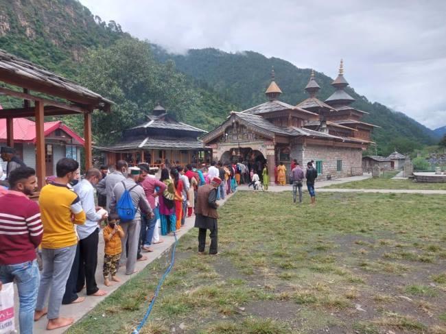 उत्तराखंड चकराता न्यूज़ : देवता के शाही स्नान के साथ महासू मंदिर में जागरा का समापन