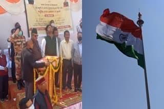 उत्तराखंड न्यूज़ : मसूरी के झूलाघर चौक पर कैबिनेट मंत्री गणेश जोशी ने 30.5 मीटर ऊंचे राष्ट्रीय ध्वज का लोकार्पण किया , जोशी ने कहा- गर्व का क्षण