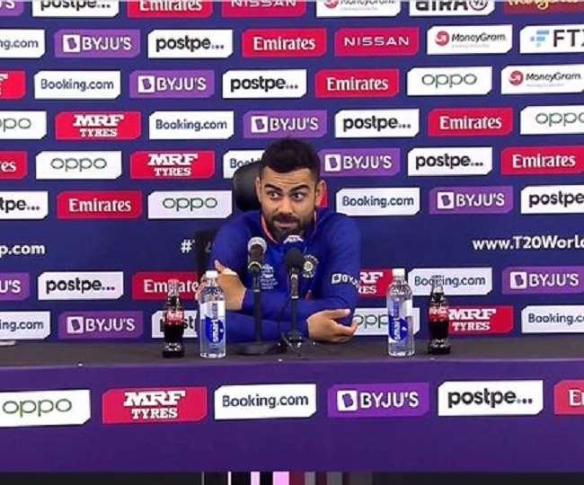 मैच के बाद मीडिया के सवाल का जवाब देते हुए कप्तान विराट कोहली भड़के , कहा- रोहित शर्मा को टी20 इंटरनेशनल से बाहर कर दू ?